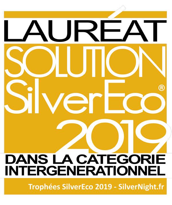 Logo Silver Eco 2019 pour la catégorie intergénérationnelle - Mise en avant du lien social