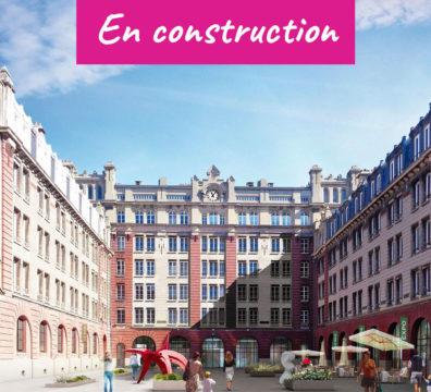 Vue en perspective de la résidence du Havre