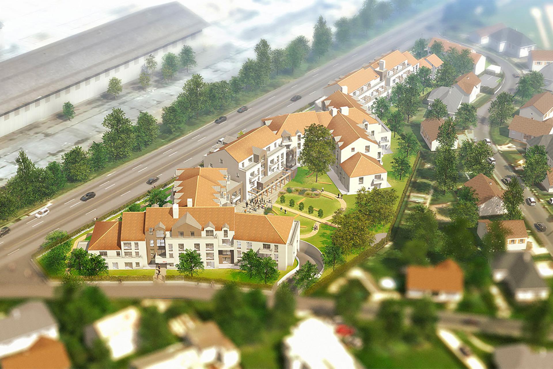 Vue en perspective de la résidence de Montsoult
