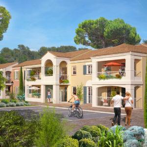 Vue en perspective de la résidence de Roquefort-les-Pins