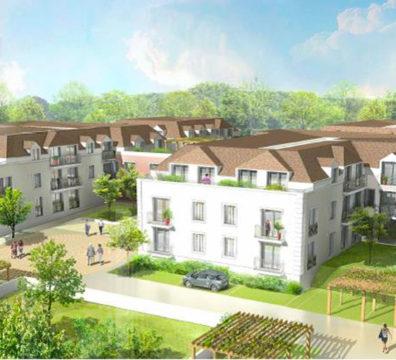 Vue en perspective de la résidence de Samoreau