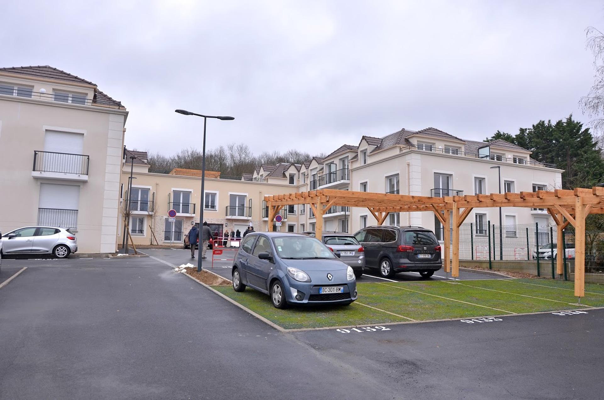 Vue de la résidence de Samoreau