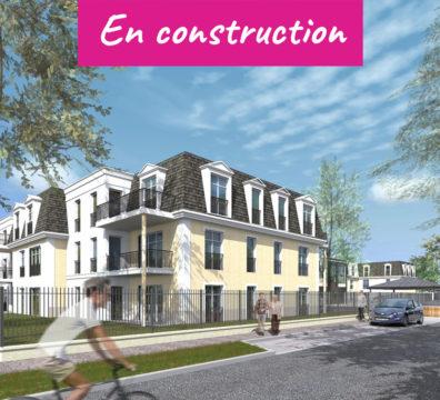 Vue depuis la rue résidence Vauréal